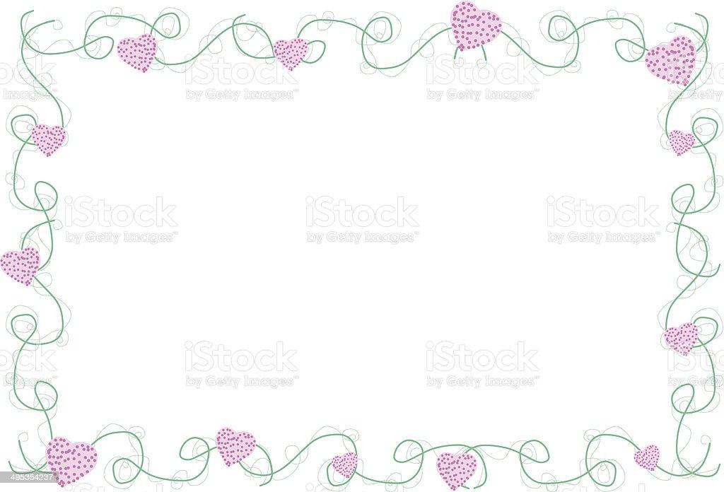 Favorito Decorazioni Floreali In Cornice Per Foto Forma Illustrazione  EV77