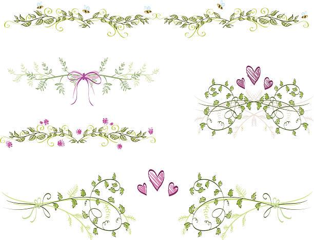 floral ornaments - christening stock illustrations, clip art, cartoons, & icons