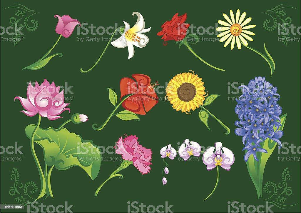 Floral Parade royalty-free stock vector art
