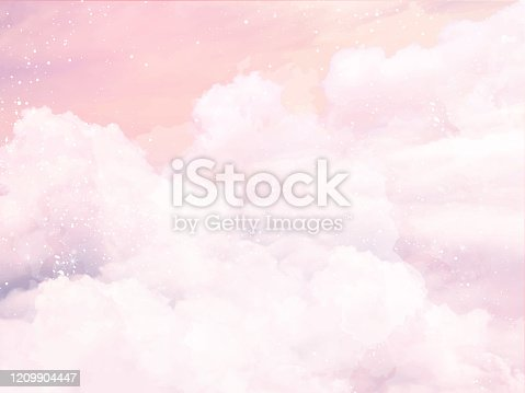 istock Floral pastel watercolor style. Blooming spring floral cards. 1209904447