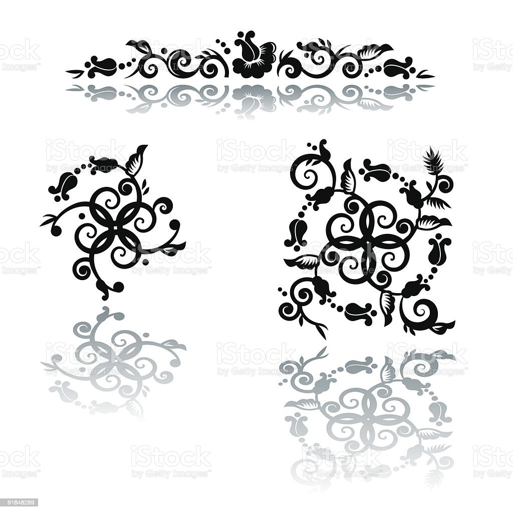 Floral Pattern Design Elements Royalty Free Stock Vector Art Amp