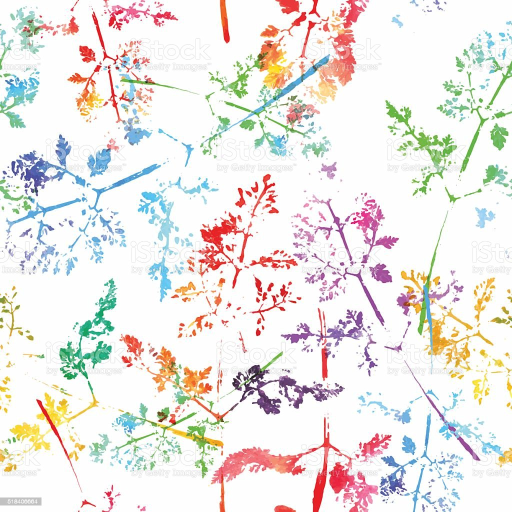 Ilustración de Patrón Flores Dibujado Elementos Sin Costura Textura ...