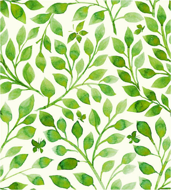 花柄 - 葉のテクスチャ点のイラスト素材/クリップアート素材/マンガ素材/アイコン素材