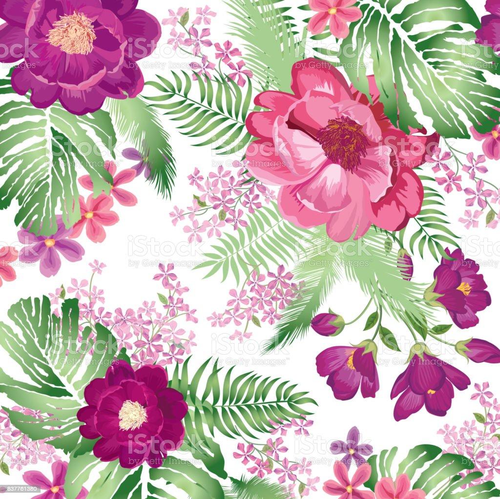 Floral pattern flower bouquet spring garden background stock vector floral pattern flower bouquet spring garden background royalty free floral pattern flower bouquet izmirmasajfo