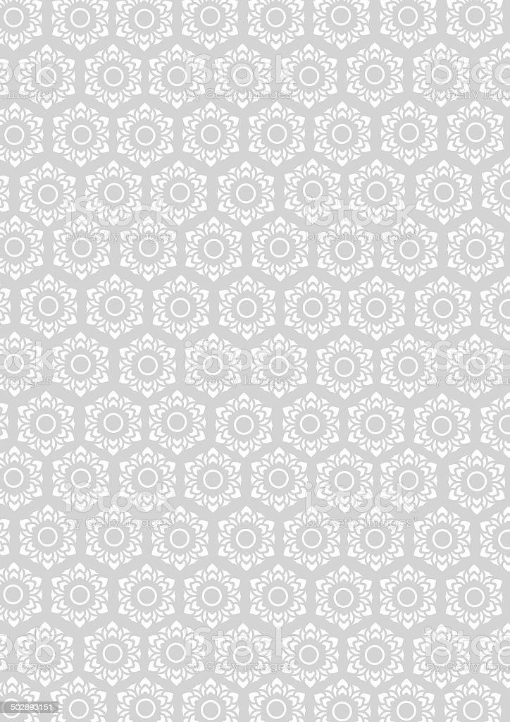 floral pattern for background vector art illustration