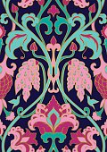 Floral pattern for wallpaper.