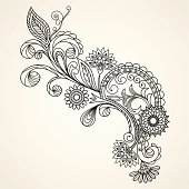 floral pattern hand drawing illustration