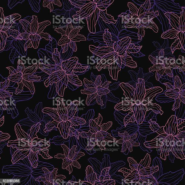 Floral pattern lily on a black background vector id523565385?b=1&k=6&m=523565385&s=612x612&h=cajs1oekqxrzrf1aixtjytcnnyubmd3b7lodhwpgsjq=