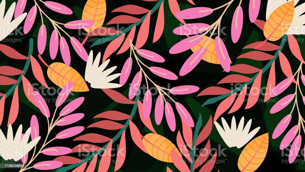 Floral pattern, spring summer background Floral pattern, spring summer background Abstract stock vector