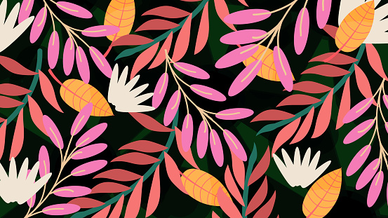 Floral Pattern Spring Summer Background Stock Illustration - Download Image Now