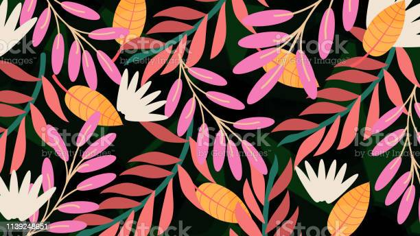 Kwiatowy wzór, wiosenne letnie tło - Grafika wektorowa royalty-free (Abstrakcja)