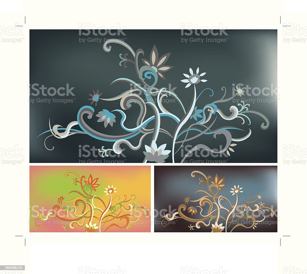 Floral Pattern royalty-free floral pattern stock vector art & more images of blue