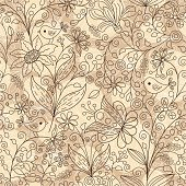 Seamless pattern with flowers. Hihg res jpg included.This file is exclusive to istockphoto.