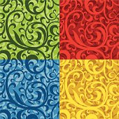 Seamless repeating floral patterm. Easy to use, just change