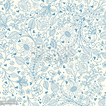 istock Floral pattern . 467253675