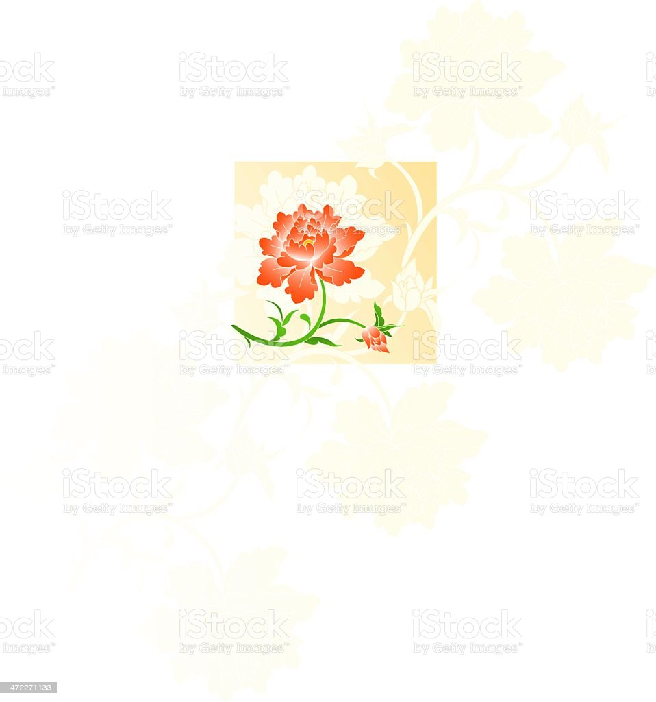 Floral pattern (vector) royalty-free stock vector art