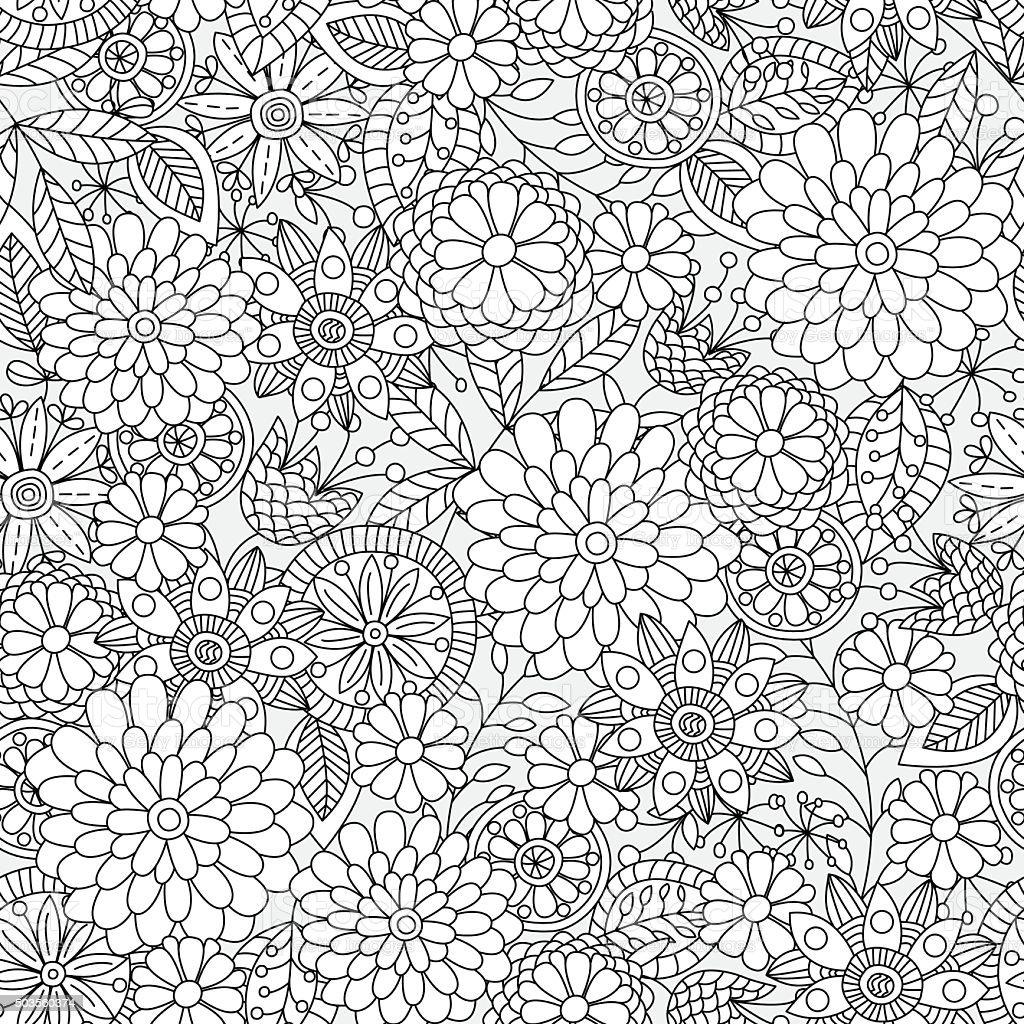 花柄。 ベクターアートイラスト