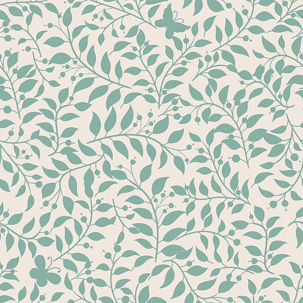 floral pattern . - floral pattern stock illustrations, clip art, cartoons, & icons