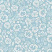Vector seamless pattern with flowers. Hihg res jpg included. AI10-compatible EPS.