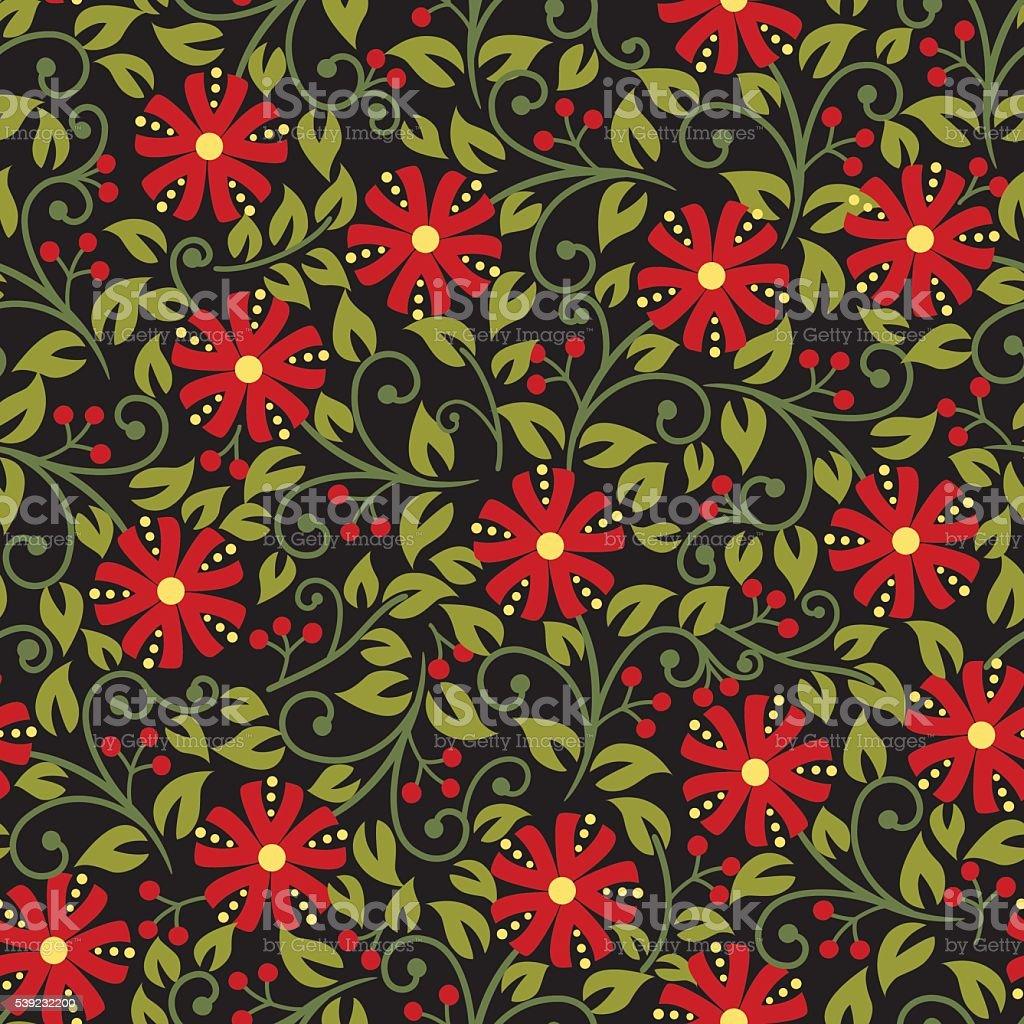 Patrón Floral. ilustración de patrón floral y más banco de imágenes de arte cultura y espectáculos libre de derechos