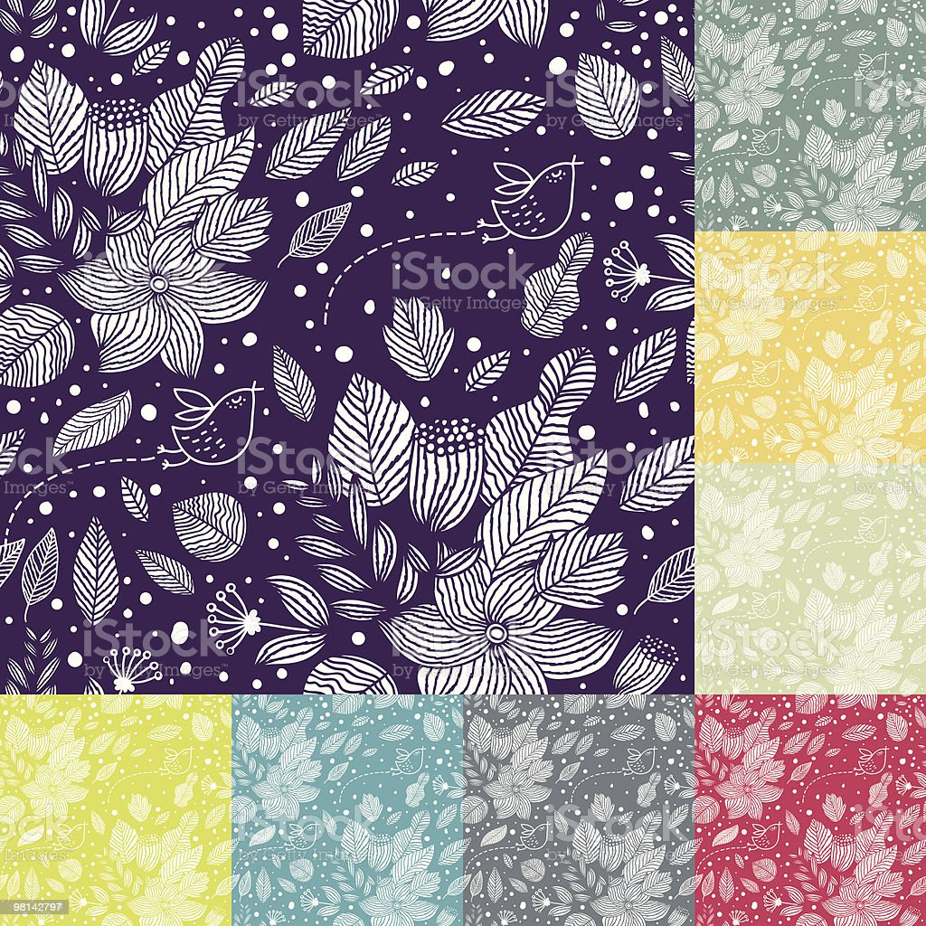 Floral pattern royalty-free floral pattern stock vector art & more images of backgrounds