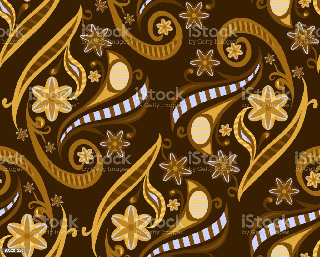 floral pattern. vector seamless pattern. brown background with flowers royalty-free floral pattern vector seamless pattern brown background with flowers stock vector art & more images of abstract