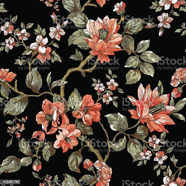 Floral pattern with leaves and flowers on a black background vector id473457782?b=1&k=6&m=473457782&s=612x612&h=cnhjlk1v5tcsuhde1tejmbqy0nsnevdidgvhoauess4=