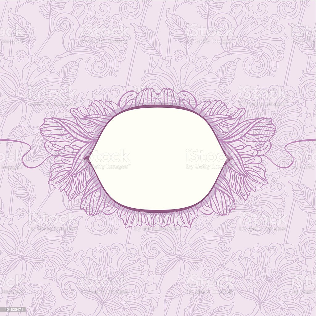 floral pattern with shield royalty-free stock vector art