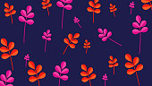 Floral patterns background