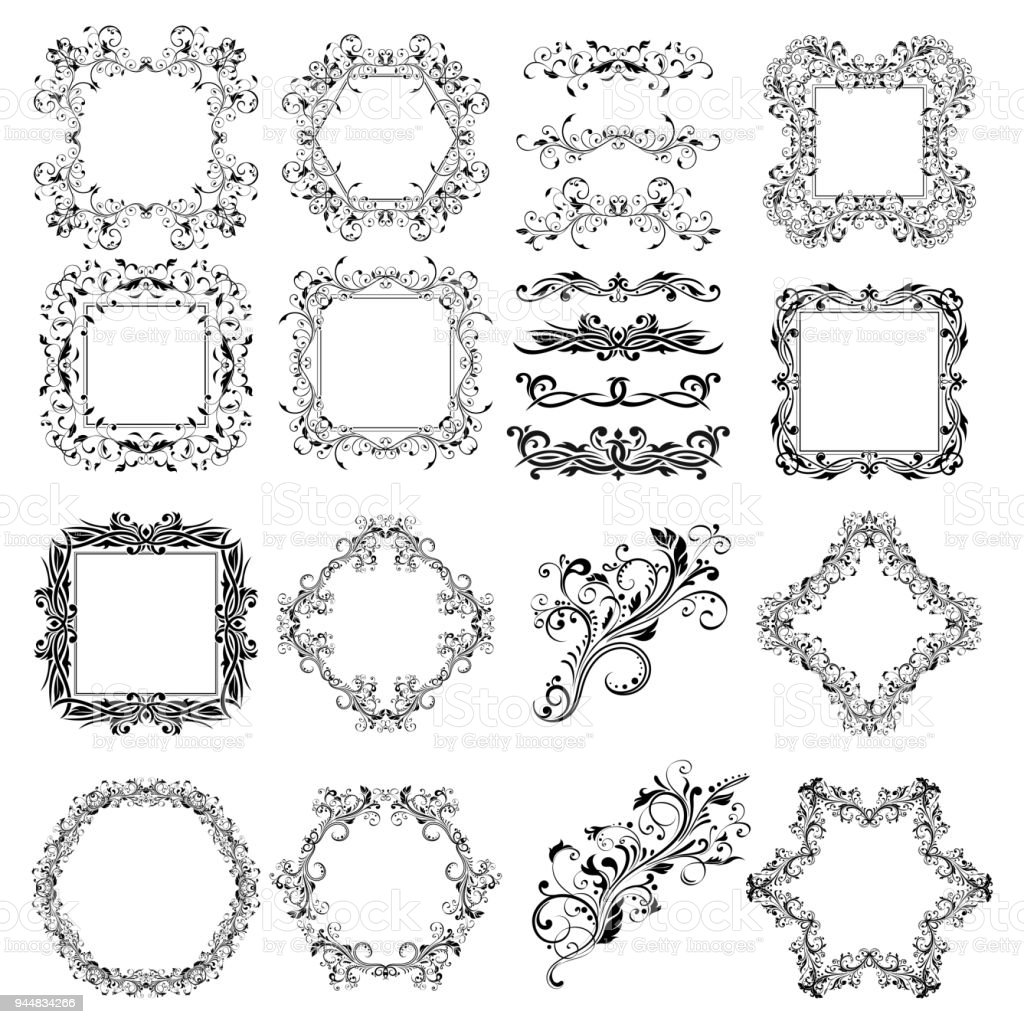 Floral patterns for card and invitation decoration filigree frames floral patterns for card and invitation decoration filigree frames and dividers royalty free floral stopboris Choice Image