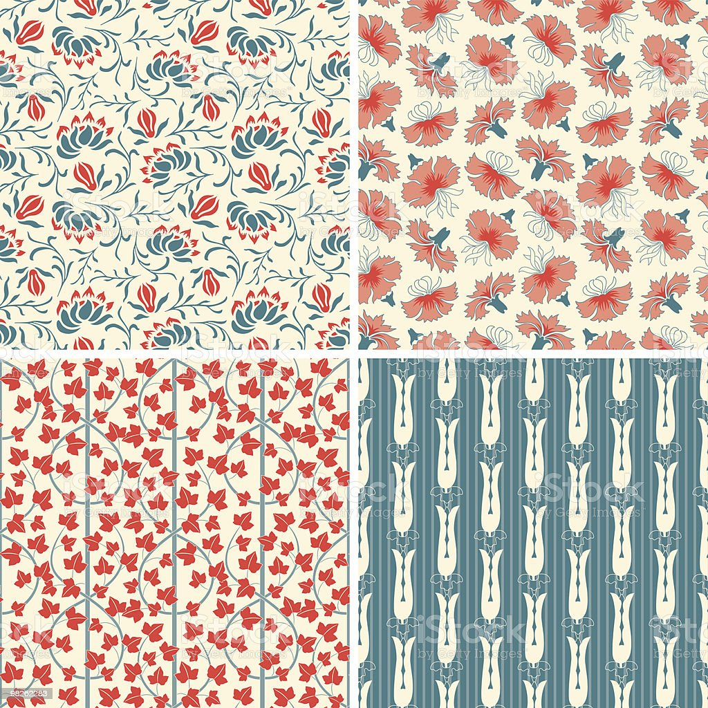 floral patterns in set royalty-free floral patterns in set stock vector art & more images of backgrounds