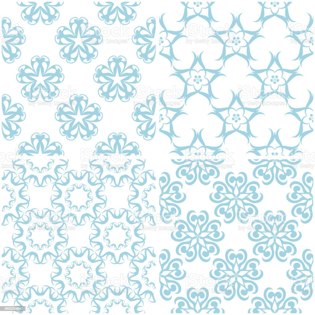 Floral patterns. Set of light blue elements on white. Seamless backgrounds royalty-free floral patterns set of light blue elements on white seamless backgrounds stock vector art & more images of arrangement