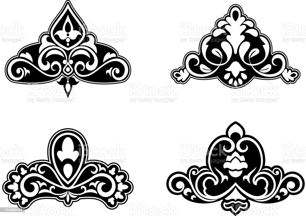 Floral patterns royalty-free stock vector art