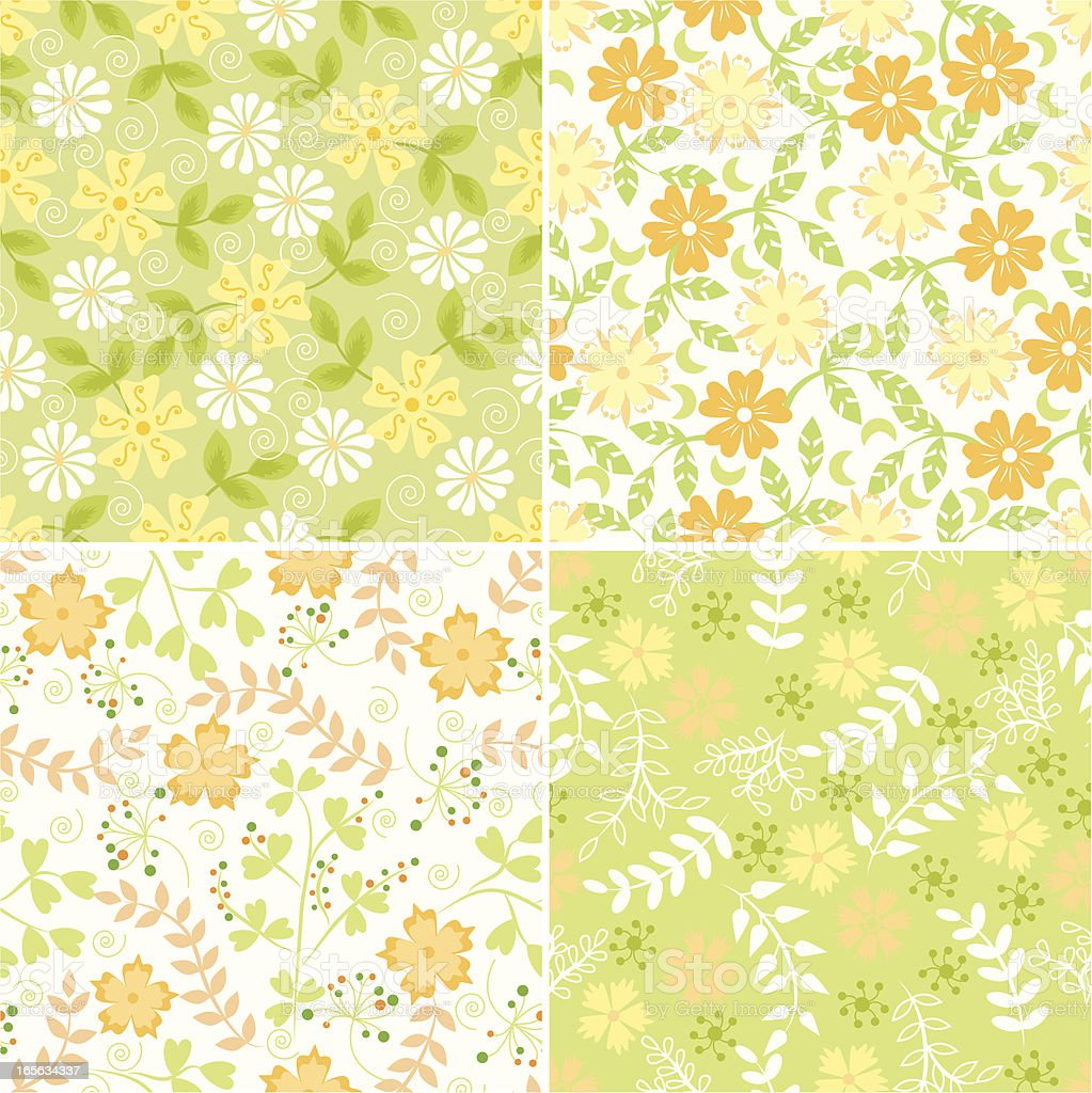Floral patterns. royalty-free stock vector art