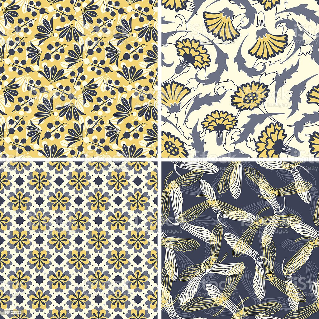 floral patterns royalty-free floral patterns stock vector art & more images of backgrounds