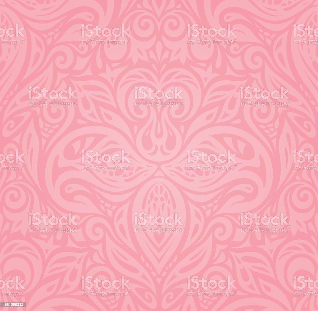 ピンク花のベクトルの壁紙デザイン ばら色のベクターアート素材や