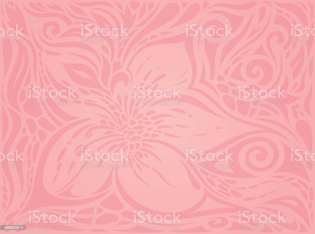 Floral Pink Vector Wallpaper Trendy Fashion Design Wedding Background Royalty Free