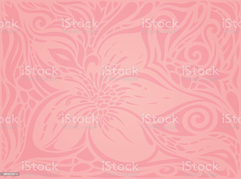 Floral Pink Vector Wallpaper Trendy Fashion Design Wedding