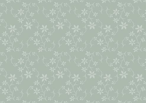 Floral print. Seamless pattern. Vector illustration.
