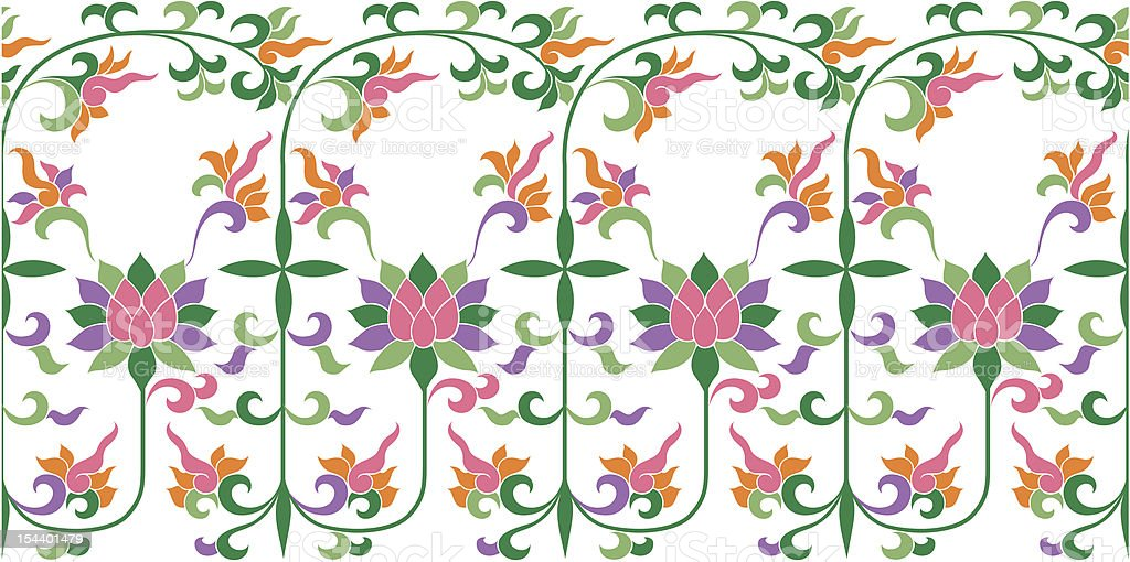 floral repeated pattern royalty-free stock vector art