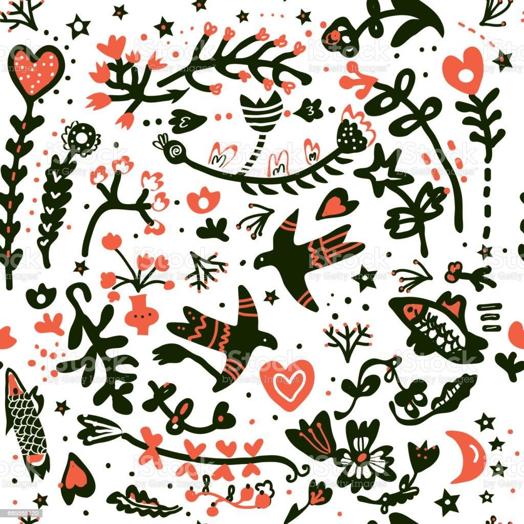 플로랄 로맨틱 완벽 한 패턴 결혼식 또는 발렌타인의 날-벡터 royalty-free 플로랄 로맨틱 완벽 한 패턴 결혼식 또는 발렌타인의 날벡터 sport set에 대한 스톡 벡터 아트 및 기타 이미지