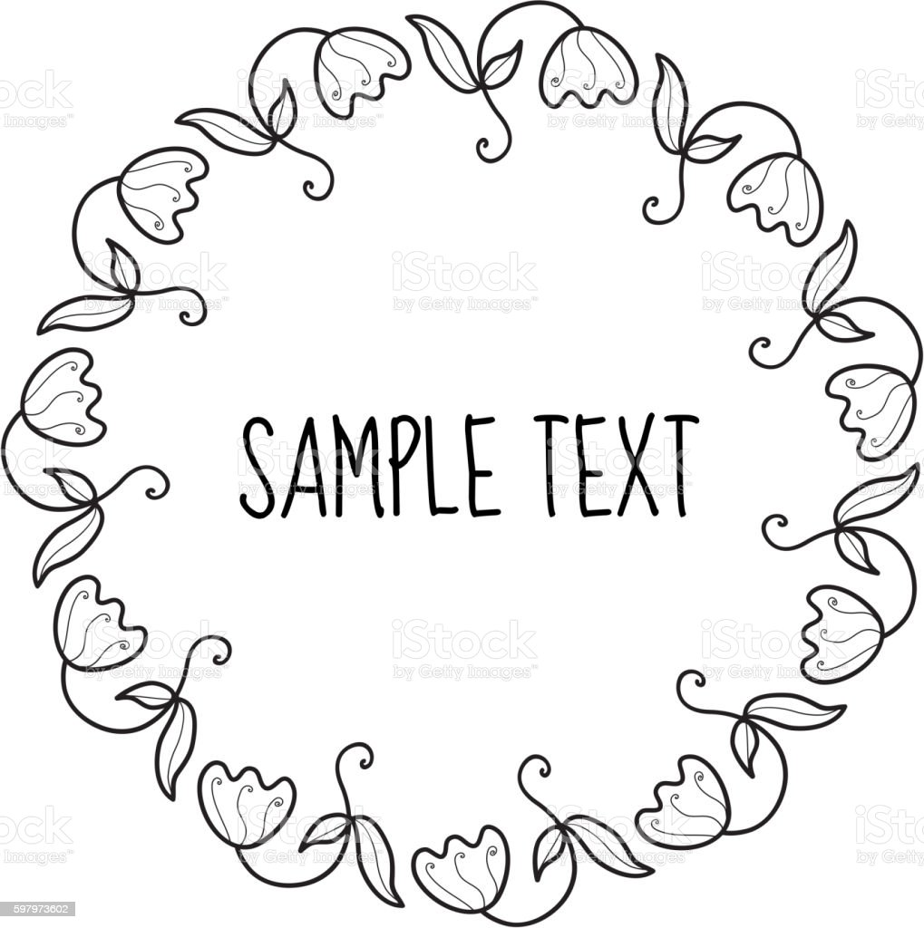 Floral round frame for text flower frame invitation arte vetorial floral round frame for text flower frame invitation floral round frame for text flower stopboris Image collections