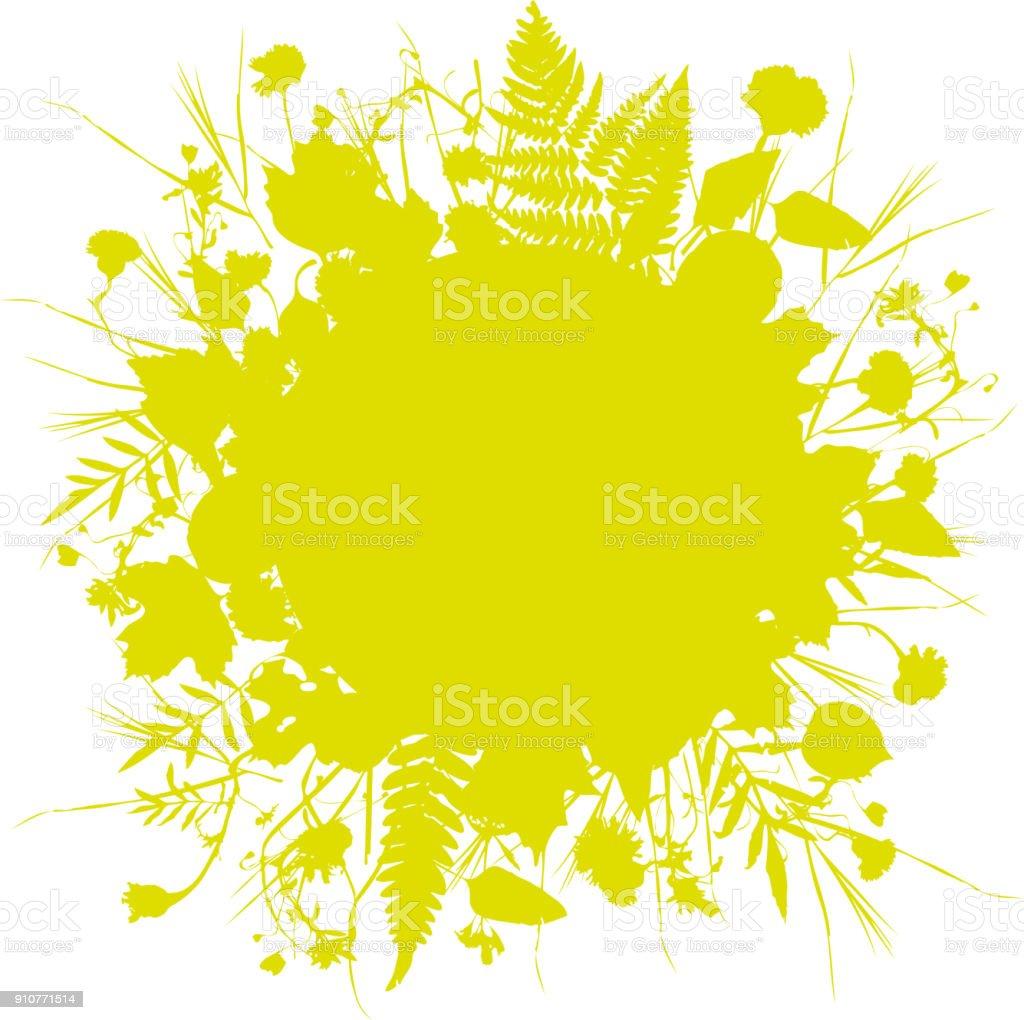 couronne florale cadre rond de fleurs conception naturelle laisse
