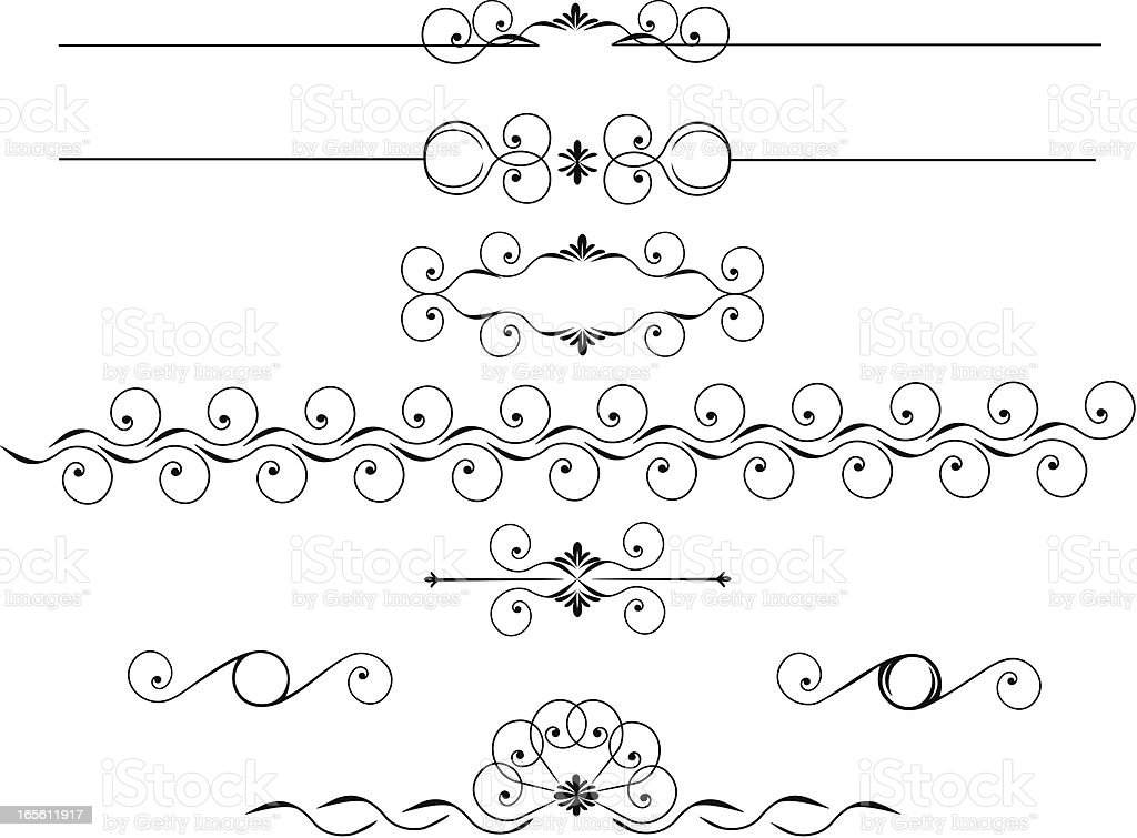 Floral Rulers royalty-free stock vector art