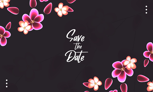 floral save the date background