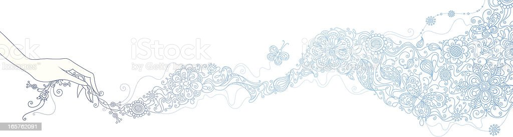 Floral scarf royalty-free stock vector art