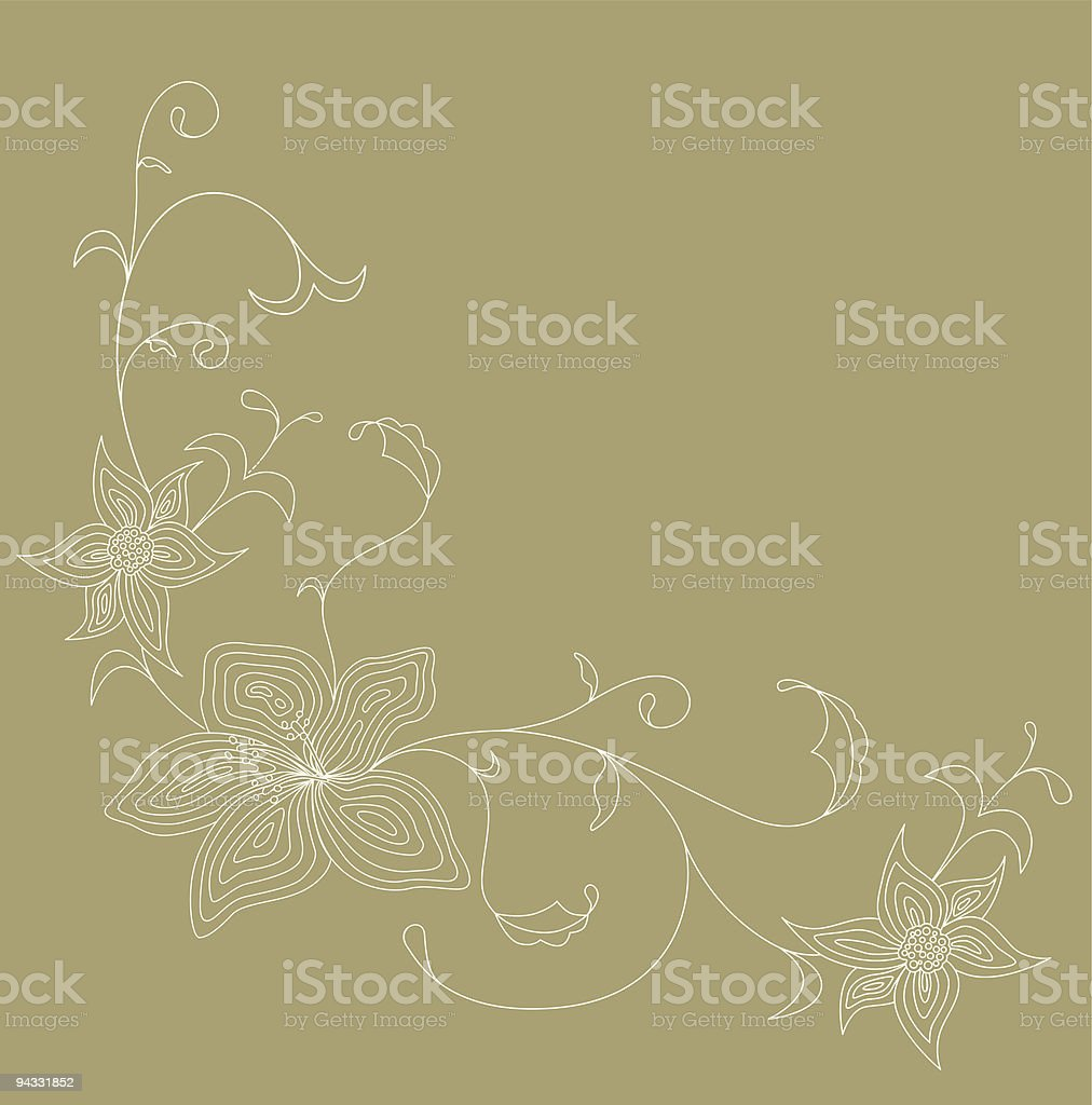 Floral Scroll 03 royalty-free stock vector art