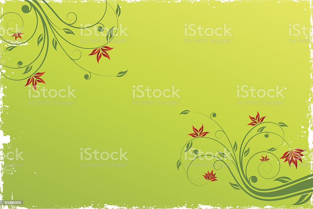 Floral scroll background royalty-free stock vector art