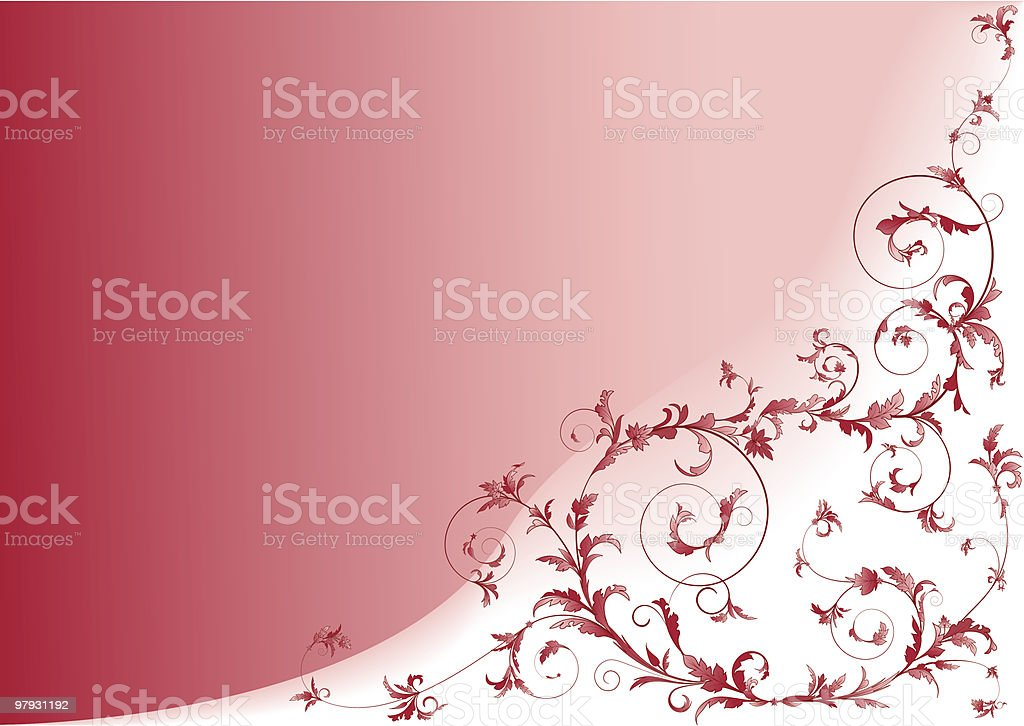 Floral scrolls red. royalty-free floral scrolls red stock vector art & more images of abstract