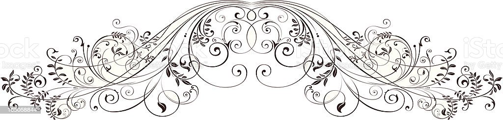 Floral Scrolls royalty-free stock vector art